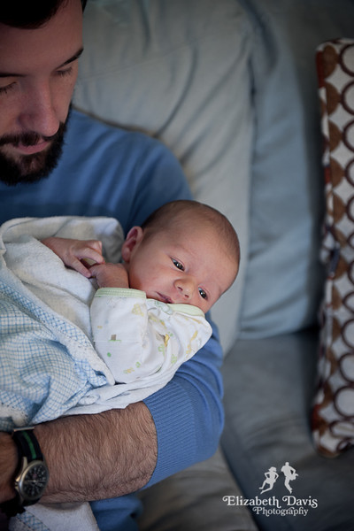 Tallahassee Baby Photographer Newborn Linus baby in dad