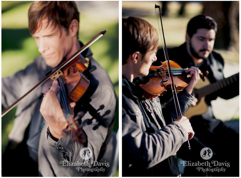 classical violinist and guitar player processional music | John Gandy Events | Southern outdoor wedding | Elizabeth Davis Photography