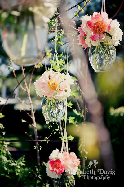 Tallahassee wedding photography hanging flowers altar