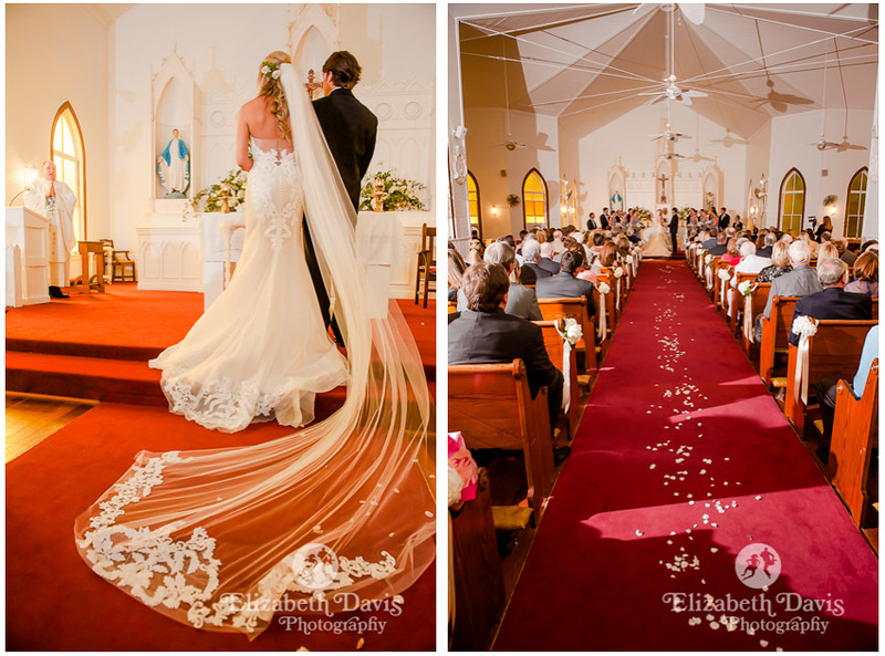 wedding at St. Lawrence Catholic Chapel on the water in Point Clear Alabama   Elizabeth Davis Photography