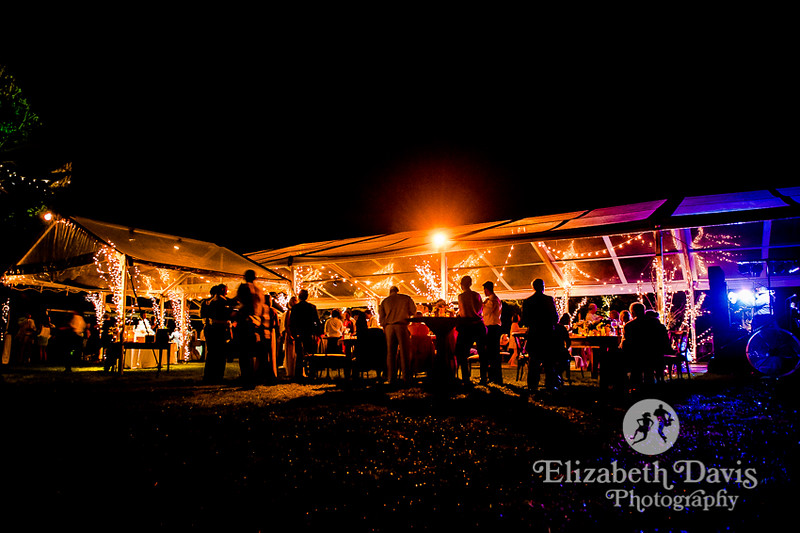 tents with see through walls and ceiling for outdoor waterfront wedding reception   Elizabeth Davis Photography