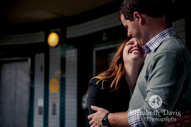 downtown Tallahassee engagement session with Elizabeth Davis Photography