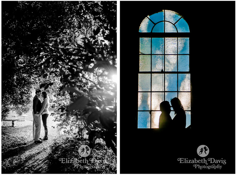 pebble hill engagement session photos | artistic engagement photos, silhouettes and windows