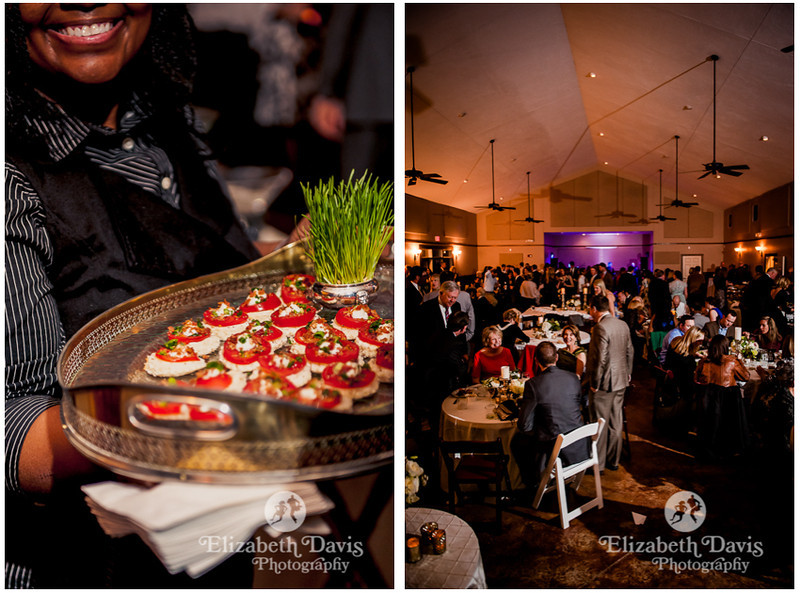 appetizers and cocktail hour food by LaGran Saunders | Southern wedding | Elizabeth Davis Photography