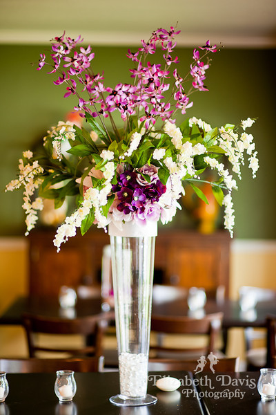 Tallahassee wedding photographer centerpiece
