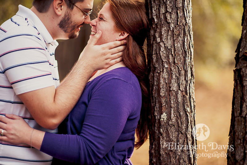 colorful backyard engagement session