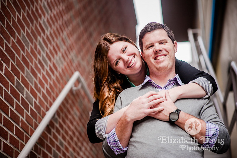 downtown engagement session with Elizabeth Davis Photography