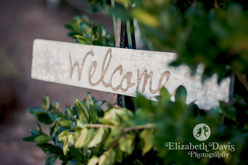 hand-painted welcome sign at wedding | John Gandy Events | Southern outdoor wedding | Elizabeth Davis Photography
