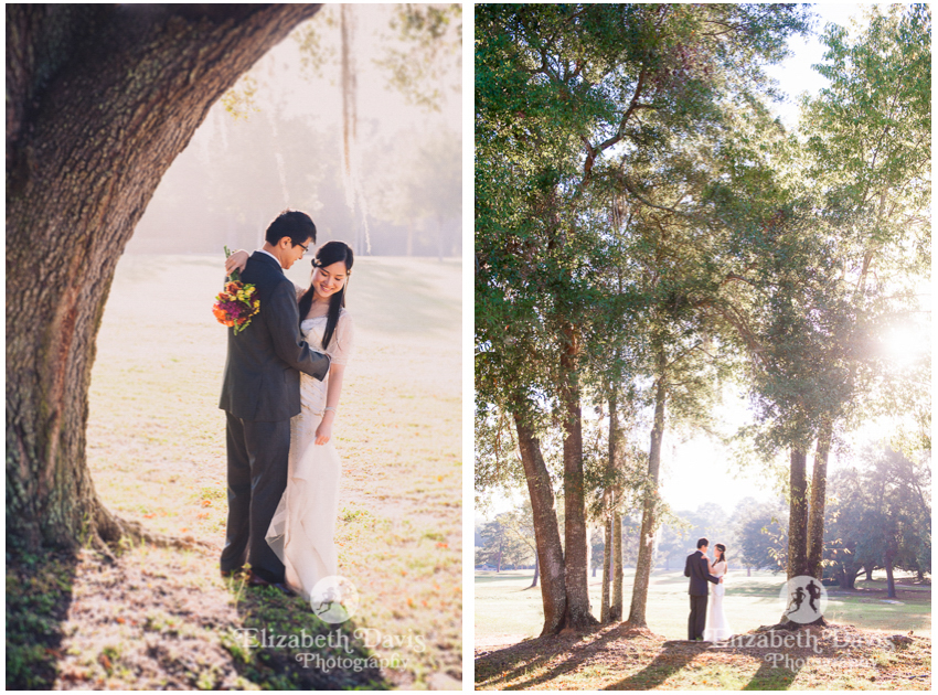After-wedding editorial session | bride and groom at the park | Elizabeth Davis Photography