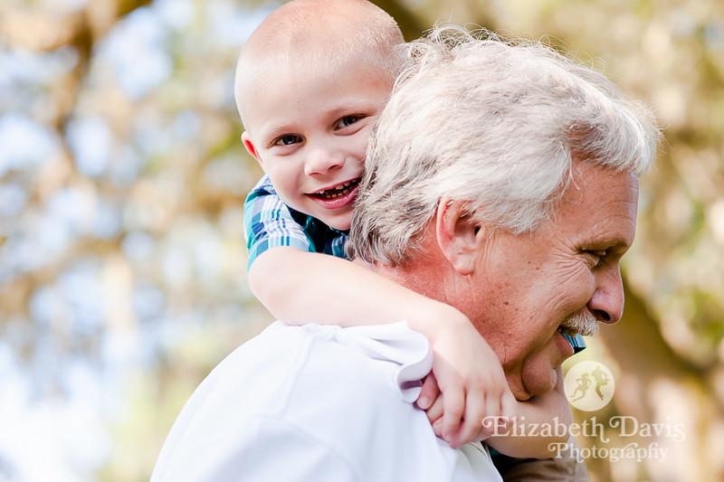 lakeside grandpa grandson family session by Elizabeth Davis Photography