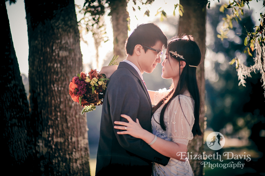 wedding editorial session | bride and groom at the park | Elizabeth Davis Photography